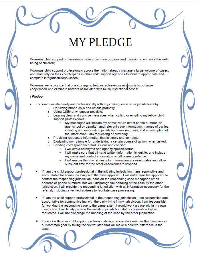 WICSEC Pledge